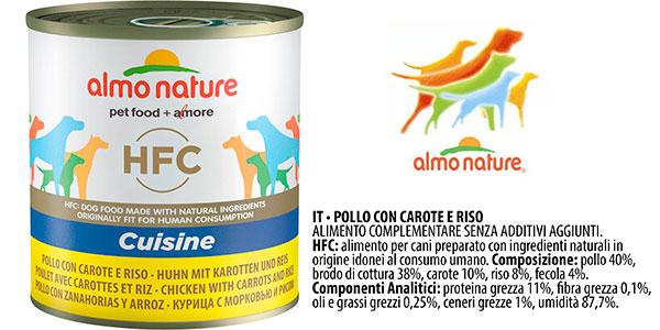 Pack de alimento húmedo Almo Nature Cuisine de pollo, zanahoria y arroz para perros adultos barato