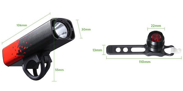 Juego de luces LED Tomshine para bicicleta en Amazon