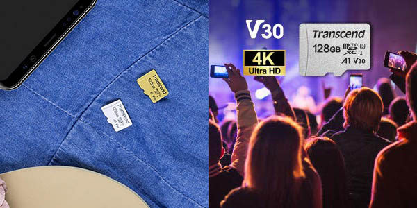 Tarjeta microSDXC Transcend USD300S de 128 GB barata