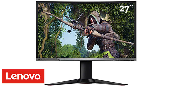 "Monitor curvo Lenovo Y27F de 27"" Full HD"