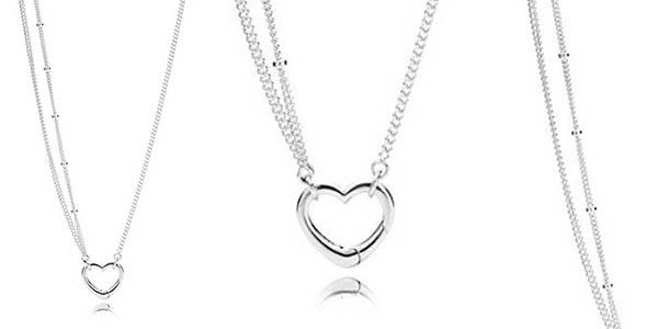 Pandora collar de plata para mujer chollo