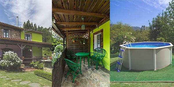 Paraíso Ortegal chalet con piscina A Coruña barato