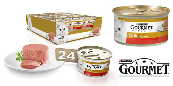 Purina Gourmet Gold Mousse buey pack ahorro