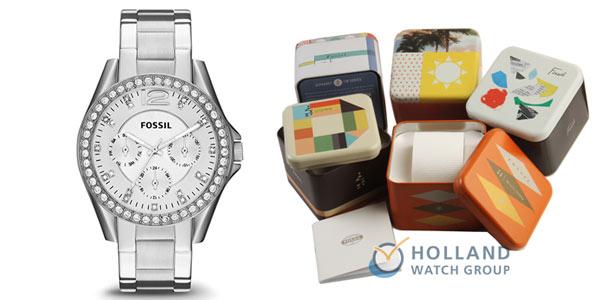 Reloj analógico Fossil ES3202 Riley para mujer barato en Amazon