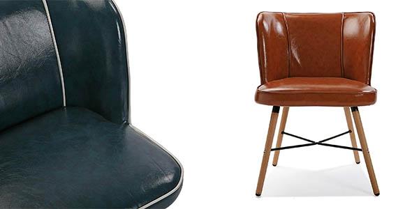 silla de polipiel de diseño contemporáneo oferta