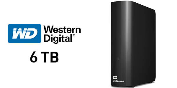 Disco duro portátil WD Elements Desktop de 6 TB