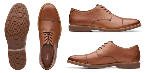 zapatos de cuero Clarks Atticus baratos