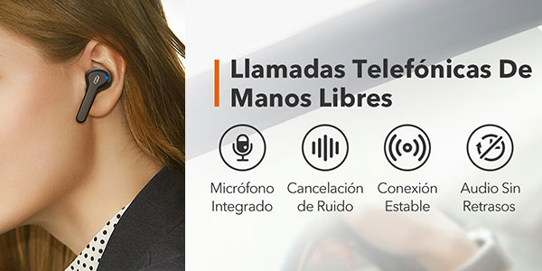 Auriculares TWS Taotronics In-Ear a buen precio en Amazon