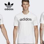 Camiseta de manga corta adidas Essentials Linear Logo tee para hombre barata en Amazon