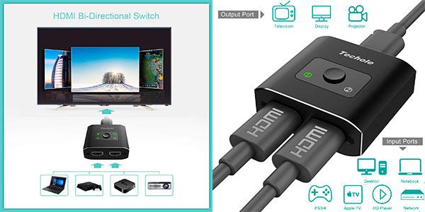Chollo Conmutador Techole HS305 2 en 1 de puertos HDMI