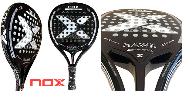 Chollo Pala de pádel Nox Hawk Black Edition 2019