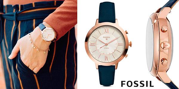 Chollo Reloj Fossil Jacqueline Navy Leather para mujer