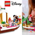 Set Barco Real de Ceremonias de Ariel de LEGO Princesas Disney con 2 minifiguras en oferta