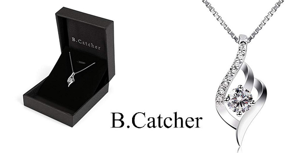 Collar B.Catcher ''Eres el amor de mi vida'' de Plata de Ley 925 para mujer barato en Amazon