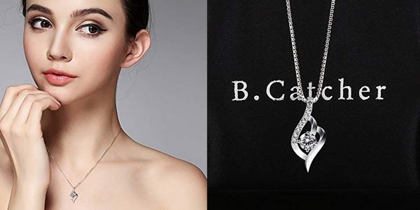 Collar B.Catcher ''Eres el amor de mi vida'' de Plata de Ley 925 para mujer chollo en Amazon