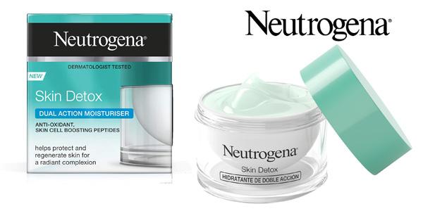 Hidratante Doble Acción Neutrogena Skin Detox de 50 ml barata en Amazon