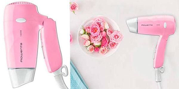 Mini secador de viaje Rowenta Pink Flamingo de 1.400 W barato