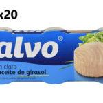 Pack x60 latas de Atún claro Calvo en aceite de girasol barato en Amazon