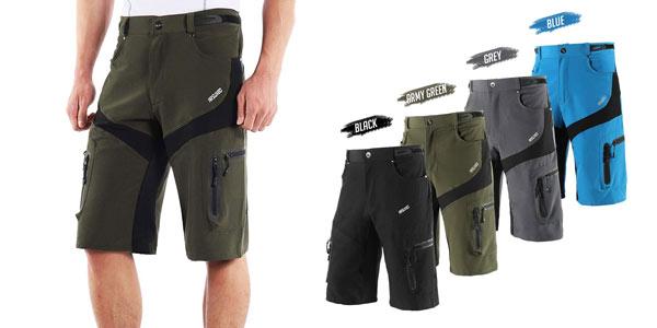 Pantalón corto multibolsillo Lixada barato en Amazon