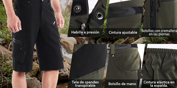 Pantalón corto multibolsillo Lixada en oferta en Amazon