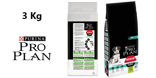 Purina ProPlan Medium Puppy Start pienso para perro cachorro de 3 Kg barato en Amazon