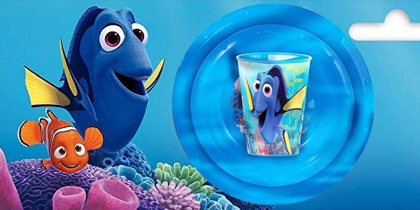 Set de plato, bol y vaso Buscando a Dory original de Disney Pixar barato en Amazon