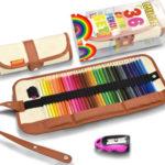 Set de 36 lápices de colores Covacure en estuche enrollable barato en Amazon