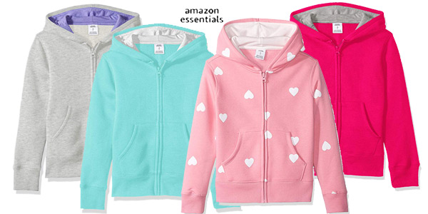 Sudadera Amazon Essentials Fleece Zip-up Hoodie para niña barata en Amazon
