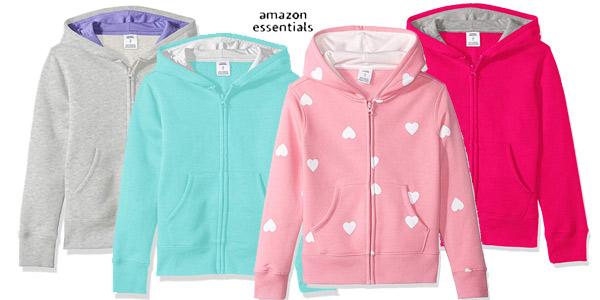 Sudadera Amazon Essentials Fleece Zip-up Hoodie para niña barata en Amazon