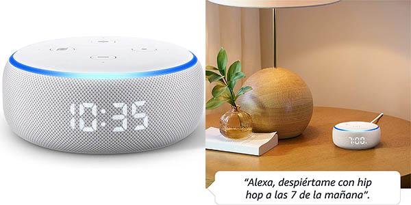 Altavoz inteligente Echo Dot con reloj
