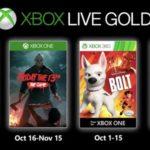 Juegos gratis con Gold octubre 2019
