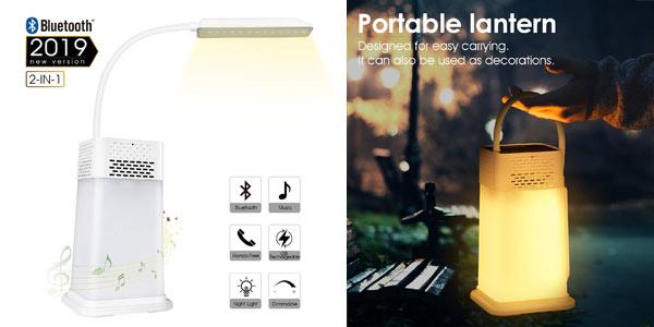 Lámpara LED AGM con altavoz Bluetooth portátil barata en Amazon