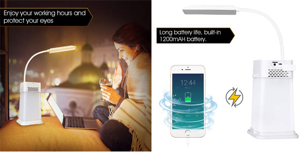 Lámpara LED AGM con altavoz Bluetooth portátil al mejor precio en Amazon