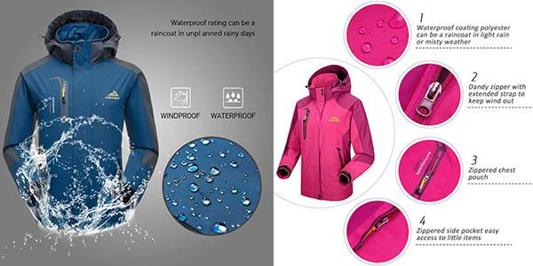 Lixada chaqueta de senderismo relación calidad-precio estupenda