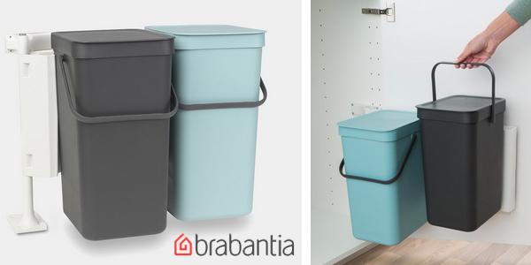 Pack x2 Cubos de basura integrados Brabantia Sort & Go de 16L/ud baratos en Amazon