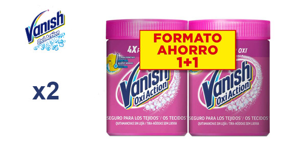 Pack x2 Vanish Oxi Action Quitamanchas en polvo 900 gr/ud barato en Amazon