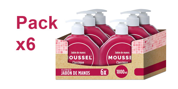 Pack x6 Jabón de manos Moussel 300 ml barato en Amazon