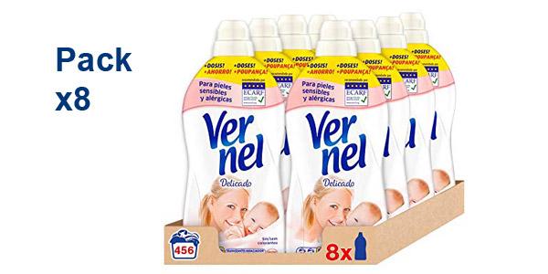 Pack x8 Vernel Suavizante Concentrado Delicadol 456 Lavados barato en Amazon
