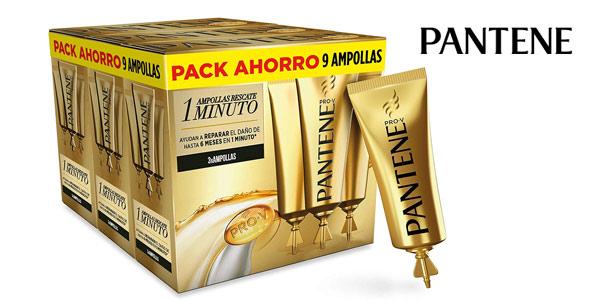 Pack x9 Ampollas Rescate 1 Minuto Pantene Pro-V Repara & Protege de 15 ml/ud barato en Amazon