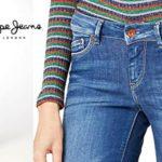 Pantalones vaqueros Pepe Jeans Pixie para mujer baratos en Amazon