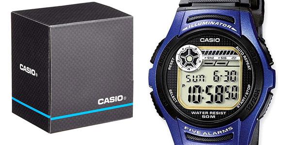 Reloj digital unisex Casio W-213-2AVES barato en Amazon