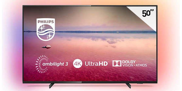 "Smart TV Philips 50PUS6704/12 de 50"" UHD 4K con Ambilight 3"