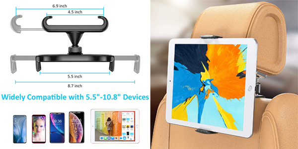 Bovon Soporte Tablet y Smartphone para Coche barato en Amazon