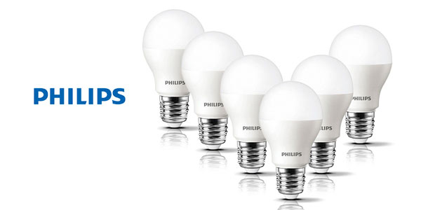 Pack 6 bombillas LED E27 Philips baratas en Amazon