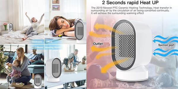 calefactor cerámico de aire Uvistare chollo