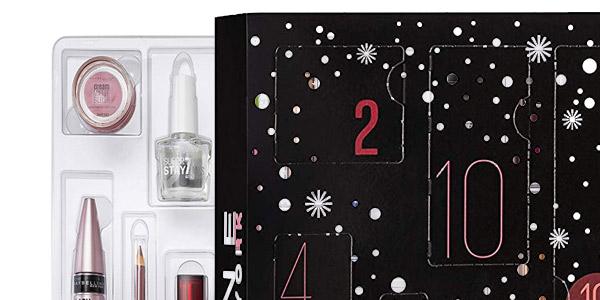 Calendario de Adviento de Maquillaje Maybelline New York 2019 chollo en Amazon