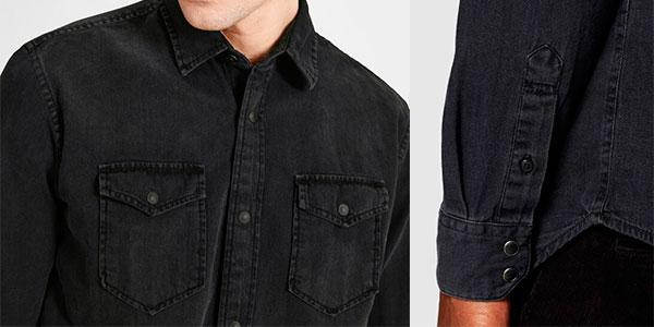 Camisa vaquera Jack & Jones básica para hombre barata