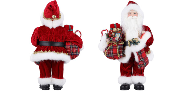 Figura grande de Papá Noel barato en Amazon