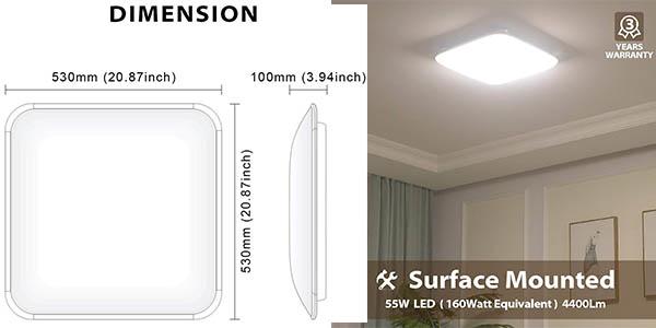 lámpara de techo LED Lvwit con cupón descuento en Amazon