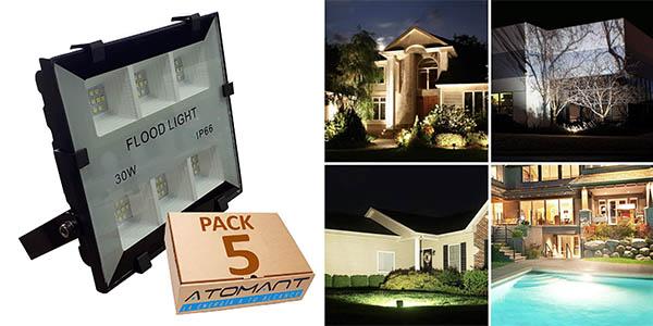 LED Atomant Proyectores LED de exterior pack ahorro